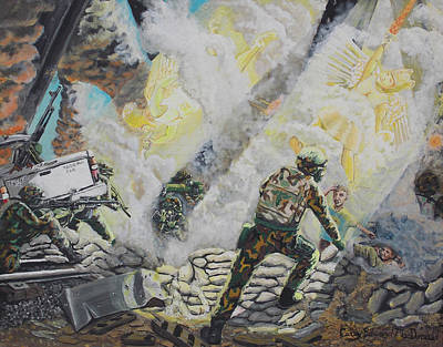 Painting - Liberator's Guardian Angles by Carey MacDonald