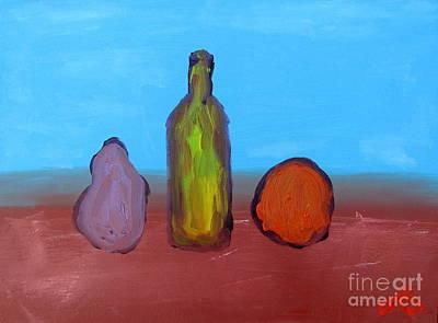 Pear Painting - Liberdade Contida by Greg Mason Burns