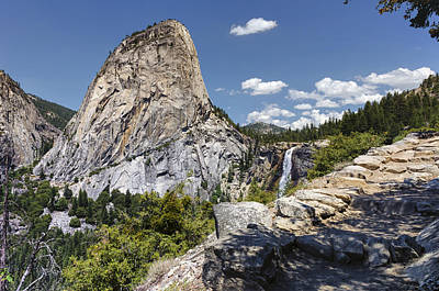 Magnificent Mountain Image Photograph - Liberty Cap And Nevada Falls by Joseph S Giacalone