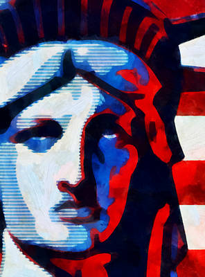 Mixed Media - Liberty 3 by Angelina Vick