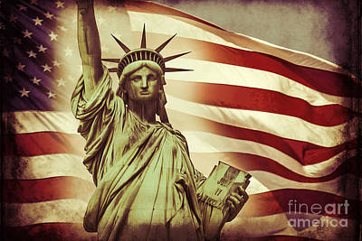 Stars Digital Art - Liberty by Az Jackson