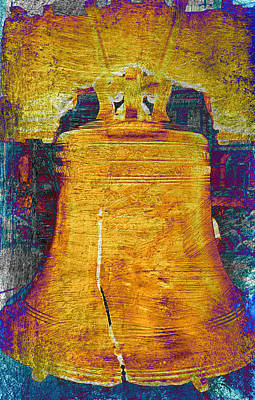Patriotic Bronze Photograph - Liberty Bell 2.1 by Stephen Stookey