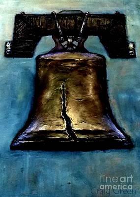 Bicentennial Painting - Liberty Bell - Bronze by Craig Green