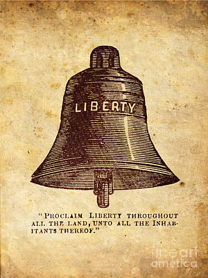 Freedom Digital Art - Liberty Bell Proclaim by God and Country Prints