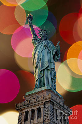 Photograph - Liberty Bokeh by Steve Purnell
