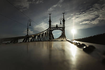 Danube Photograph - Liberty Bridge Budapest by Chris Fletcher