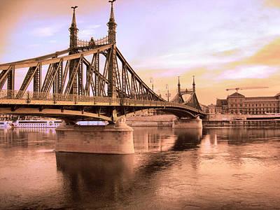 Budapest Tours Photograph - Liberty Bridge by Janos Kovac