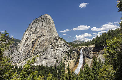 Magnificent Mountain Image Photograph - Liberty Cap Nevada Fall by Joseph S Giacalone