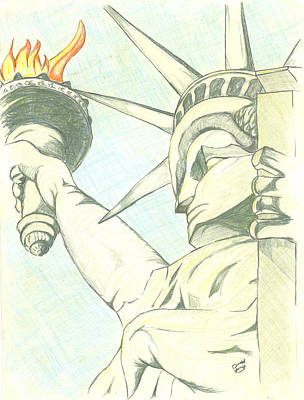 World Leader Drawing - Liberty by Donald Jones