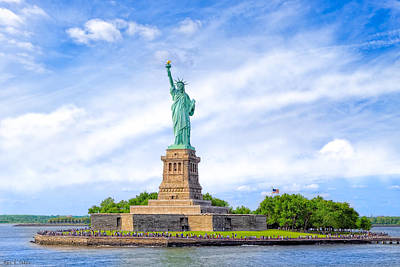 Art Print featuring the photograph Liberty Enlightening The World - New York City by Mark E Tisdale
