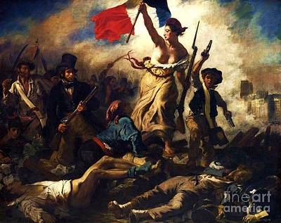 Painting - Liberty Guiding The People by Pg Reproductions