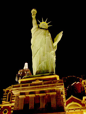 Photograph - Liberty In Las Vegas by Mieczyslaw Rudek