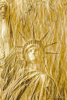 Print featuring the photograph Liberty Is Golden by Dyle   Warren