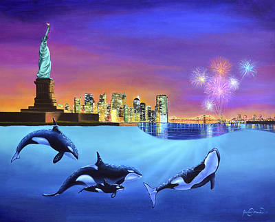 Wyland Painting - Liberty by James Corwin