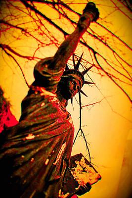 Bloodied Liberty Art Print by Josh Brown