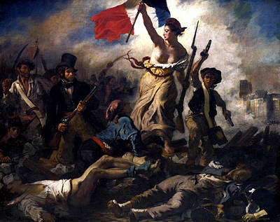 Liberty Painting - Liberty Leading The People During The French Revolution by War Is Hell Store