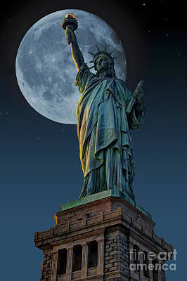 Photograph - Liberty Moon by Steve Purnell