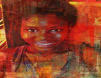 Liberty Or Freedom Art Print by Fania Simon