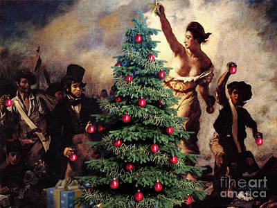 Liberty Places Star On The Tree Art Print by Joseph Juvenal