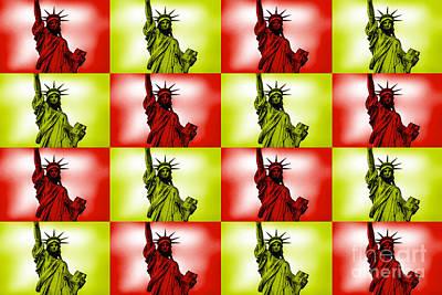 Liberty Pop Art Print by Az Jackson