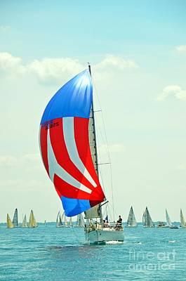 Liberty Sailboat Art Print by Randy J Heath