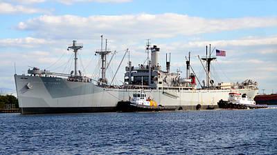 Tug Boat Photograph - Liberty Ship  by David Lee Thompson