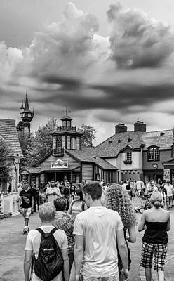 Photograph - Liberty Square Magic Kingdom by Howard Salmon