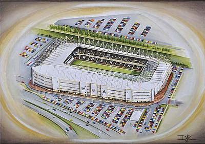Football Paintings - Liberty Stadium - Swansea City by D J Rogers