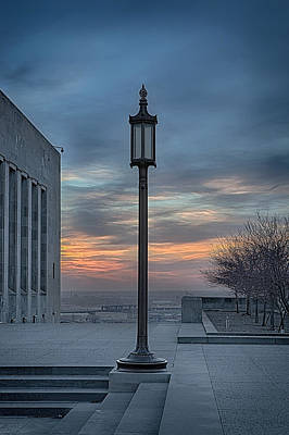 Photograph - Liberty Street Lamp by Sennie Pierson