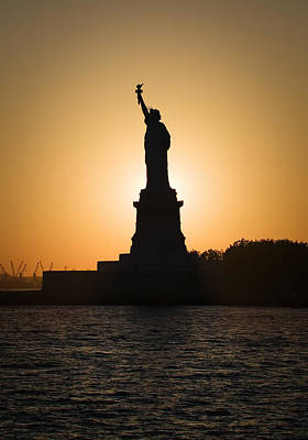 Photograph - Liberty Sunset by Dave Bowman