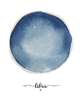 Zodiac Painting - Libra Circle by Amy Cummings