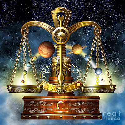 Astrological Digital Art - Libra by Ciro Marchetti