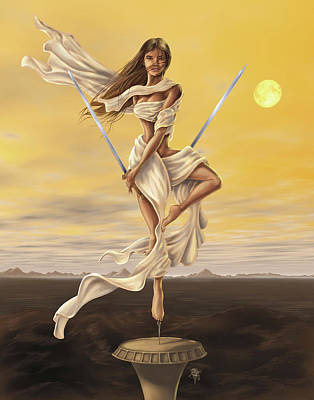 Warrior Woman Wall Art - Painting - Libra by MGL Meiklejohn Graphics Licensing