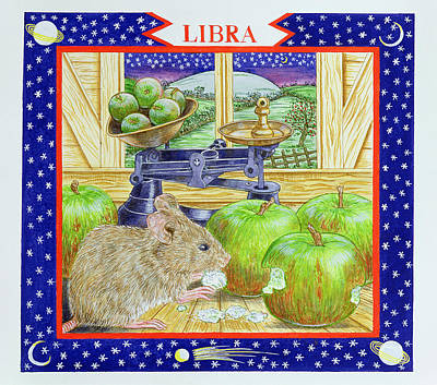 Nibbling Photograph - Libra Wc On Paper by Catherine Bradbury