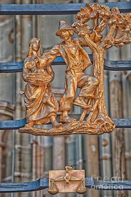 Zodiac Photograph - Libra Zodiac Sign - St Vitus Cathedral - Prague by Ian Monk