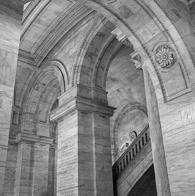 Photograph - Library Arches by Cornelis Verwaal