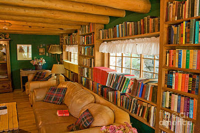 Photograph - Library In The Bald Pate Inn by Fred Stearns