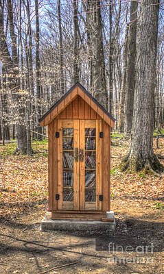 Photograph - Library In The Woods by Jim Lepard