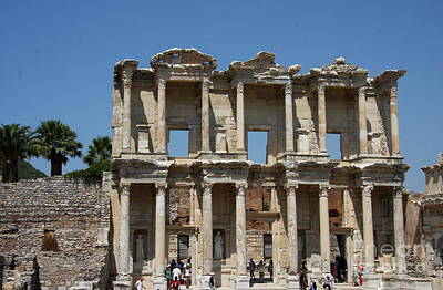 Library Of Celsus Photograph - Library Of Celsus In Ephesus by Christiane Schulze Art And Photography