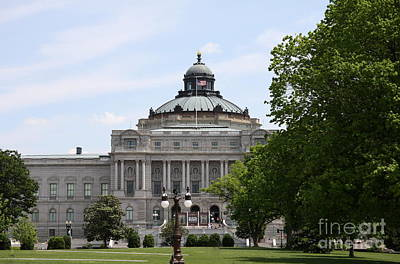 Photograph - Library Of Congress - Thomas Jefferson Building by Christiane Schulze Art And Photography