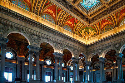 Photograph - Library Of Congress by Celso Diniz