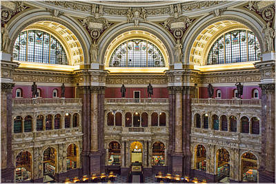 Photograph - Library Of Congress by Erika Fawcett