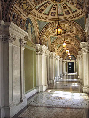 Library Of Congress Hallway Washington Dc Art Print