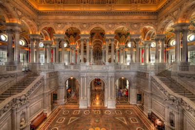 Of Stairs Photograph - Library Of Congress by Steve Gadomski