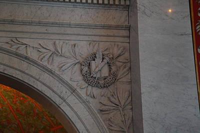 Stonework Photograph - Library Of Congress - Washington Dc - 011319 by DC Photographer