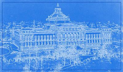 Congress Digital Art - Library Of Congress Washington Dc 1902 Blueprint by MotionAge Designs