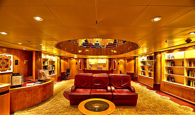 Photograph - Library On Royal Caribbean Adventures Of The Seas by Craig Bowman
