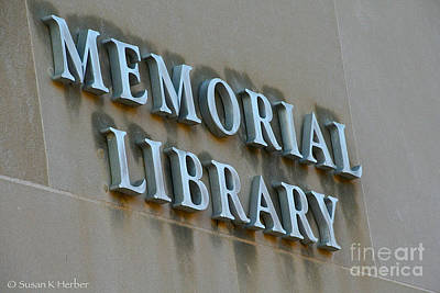 Photograph - Library by Susan Herber