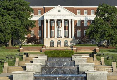 University Of Maryland Photograph - Library University Of Maryland by John Greim