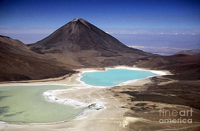 Licancabur Volcano And Laguna Verde Print by James Brunker